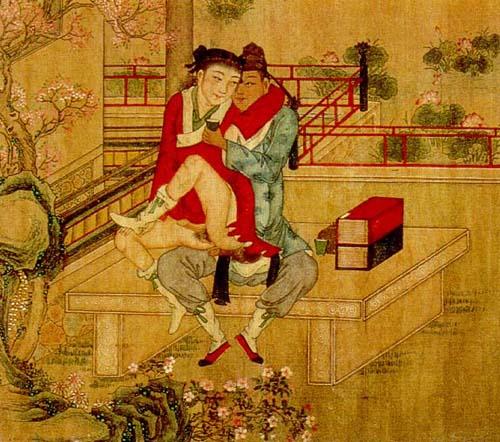Two guys making love