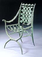Cast bronze armchair