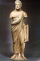 Etruscan terracotta statue of a man