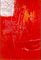 "Saito Yoshihige, ""Untitled (Red),"" 1962, $266,000 at Christie's"