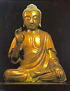 Yuan/Ming gilded stucco Buddha, $112,500 at Sotheby's
