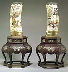 Two 19th-century inlaid tusk vases, $46,000 at Sotheby's