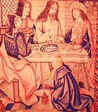 "'""Christ at Supper with Simon the Pharisee,"" tapestry, ca. 1510-1520, at Galerie Chevalier, Paris"
