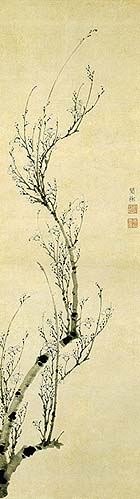 "Wen-chi (ca. mid-14th century), ""Blossoming Plum"""