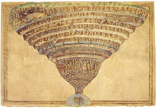 the depiction of hell and sinners in dantes inferno There is perhaps no more grisly scene in all the inferno than dante's depiction of ugolino eating the back of  of traitors in the lowest circle of hell describe .