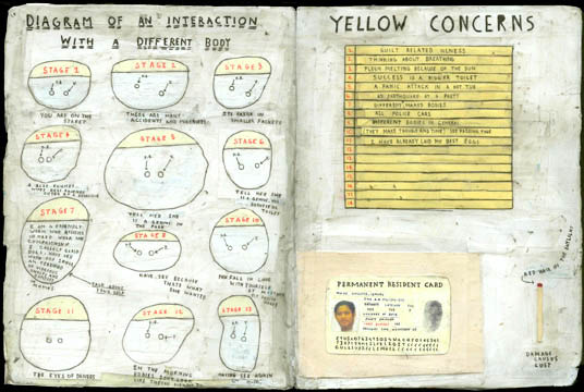 SIMON EVANS Diagram of an Interaction with a Different Body/Yellow Concerns