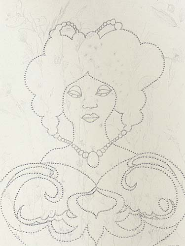 Chris Ofili: 'Untitled (Woman)'; 2000; pencil on paper; 30 x 22 in.