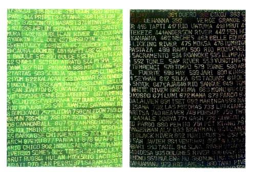 Fiumi,112 x 85 cm Galleria Seno, Milan