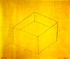 "Donald Judd, ""Untitled (Pencil Drawing on Yellow Paper),"" 1976 at the Akademie der Kunst"