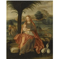 the rest on the flight into egypt by flemish school-bruges (16)