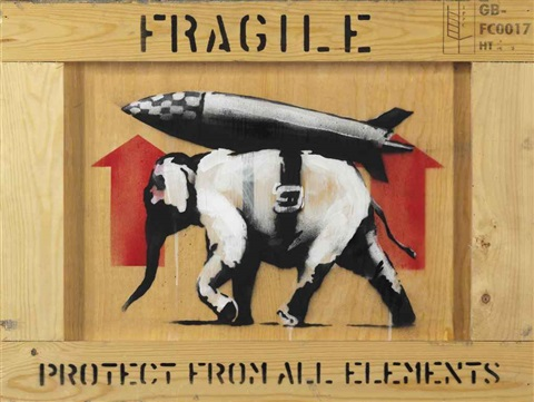 protect from all elements by banksy