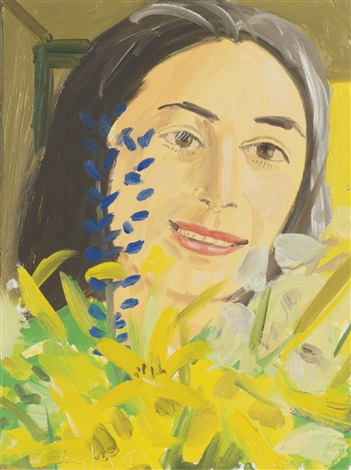 ada with wildflowers i by alex katz