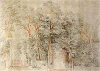 bosquet d'arbres dans un parc by jacques-andré portail