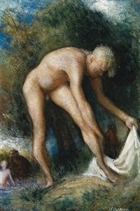boy bathing by william dobell