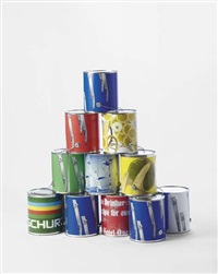 paint cans (from dear ketel one drinker hello again) (in 12 parts) by kelley walker and wade guyton