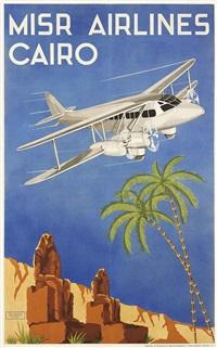 misr airlines cairo by n. strekalovsky