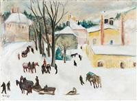 winterlandschaft by rudolf grossmann