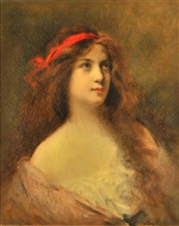 portrait of a lady by angelo asti