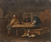 ein paar genreszenen (pair) by ferdinand van apshoven
