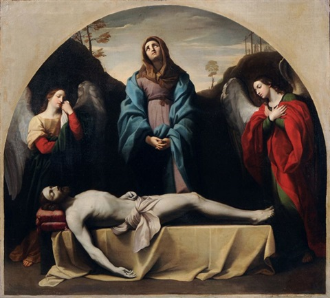 lamentation of christ by gustav friedrich baumgarten