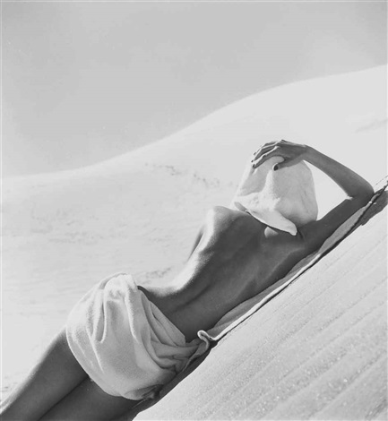 nude on beach, california by louise dahl-wolfe