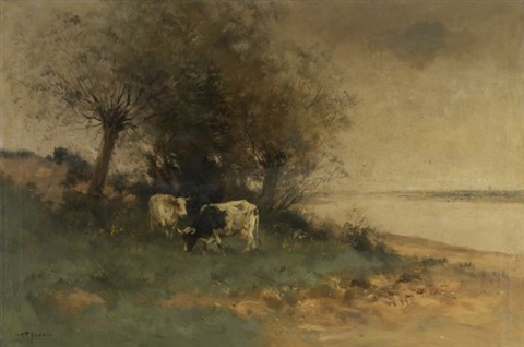 river landscape by willem george frederik jansen