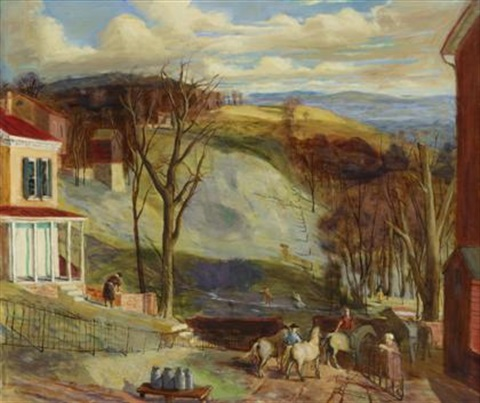scene in lancaster county pennsylvania by walter stuempfig