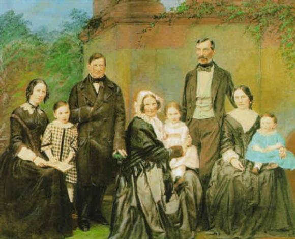 großes familienbild by alois löcherer