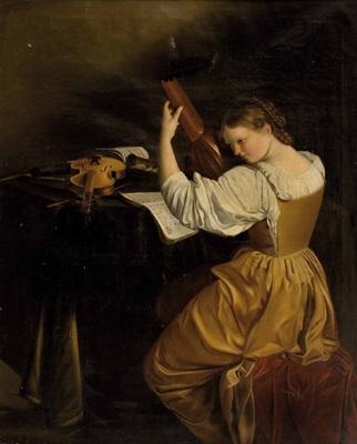 die lautenspielerin by orazio gentileschi