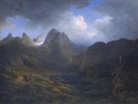 der hintersee bei berchtesgaden by emil heilmair