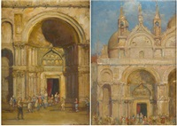 vues de venise (2 works) by jean-baptiste valentinelli