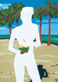 woman with coconut by marek firek