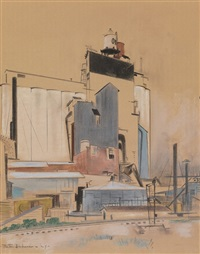grain elevator by preston dickinson