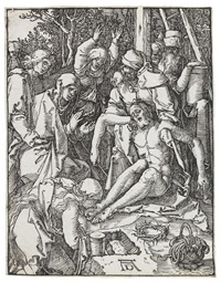 the annunciation; the lamentation (2 works from the smnall passion) by albrecht dürer