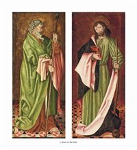 saint thomas and saint james (2 works) by german school-swabian (15)