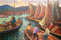 busy harbor by arturo pacheco altamirano
