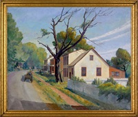 street scene (marshallton, pa?) by christian l. dull