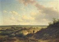 in the sunlit dunes, haarlem beyond by willem vester