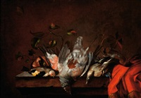 still life with dead birds by jan vonck