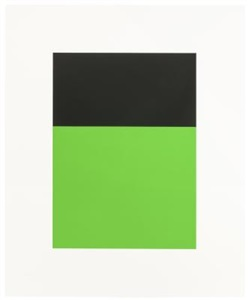"""black/green ii, from """"series of ten lithographs"""" by ellsworth kelly"""