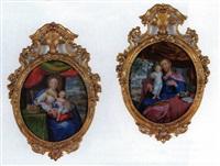 madonna mit dem jesuskind (+ st. joseph mit dem jesuskind; 2 works) by anna barbara abesch
