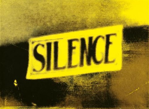 yellow silence the electric chair by christian marclay
