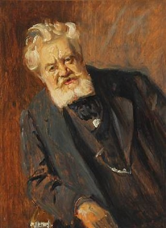 portrait of the danish author vilhelm østergaard by michael peter ancher