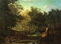 promeneur en forêt by hector louis allemand