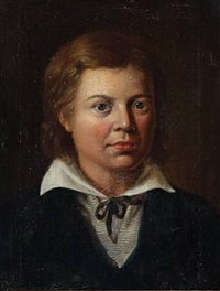 self portrait of the young artist by jörgen roed