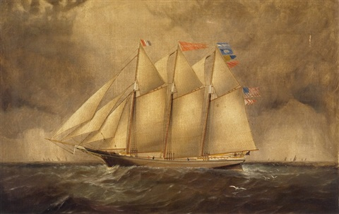the three masted schooner rosa eppinger by elisha taylor baker