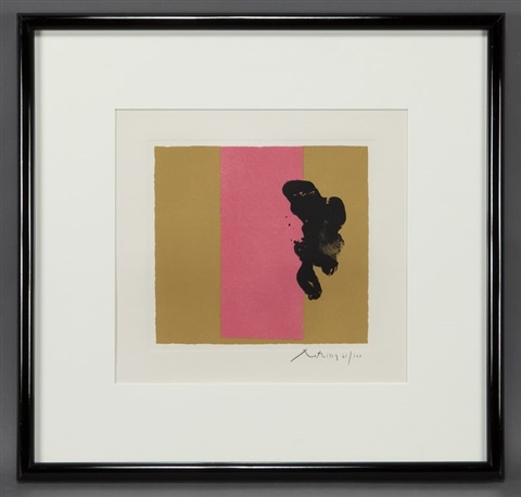 plate iv berggruen series by robert motherwell