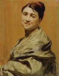 jonge vrouw by edouard agneessens