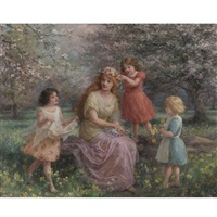 spring idyll by jennie augusta brownscombe