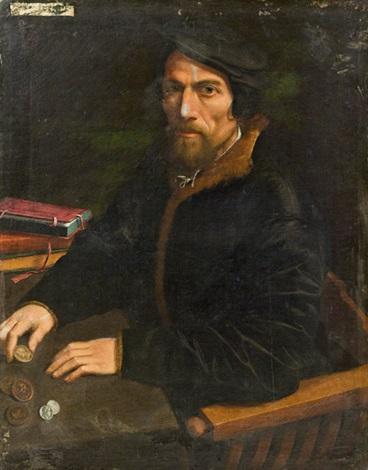 porträt eines münzsammlers by hans holbein the younger